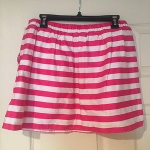 Lilly Pulitzer Pink and White Striped Skirt